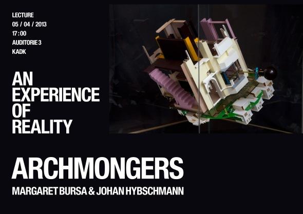 Archmongers Lecture, Fredag den 5. april kl. 17, KADK