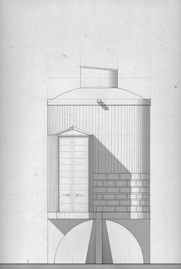 Sketch facade turbinehouse