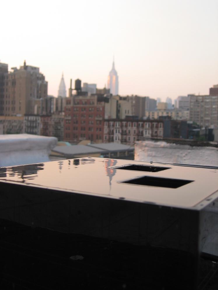 Michael Arad, modelstudie af 'Hudson River Voids', 2002
